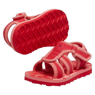 プーマ (PUMA) キッズ サオサオ N(ゼラニウム×サーモンローズ×ヴィヴィットヴィオラ) 187459-05 [分類:キッズ・子供靴 コンフォートサンダル]の画像