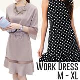 Basic Drop Waist Dress~ S - L~ 5 colours