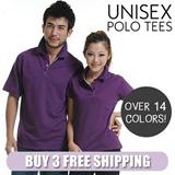 Buy 3 Free Shipping*Unisex Polo T-shirt Men Women Casual Tops Collared Fashion