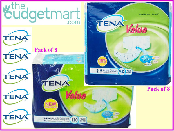 Tena VALUE Adult Diaper M12sx8 / L10sx8 Deals for only S$80 instead of S$0