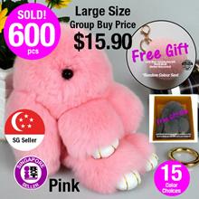 [Valentine Gift]★LARGE Rabbit Bunny keychain★[SG Seller] Premium Rabbit Bunny Bags Backpack ClipOn Keychains Handbag Bag Fluffy Bunny Large Bunny Rabbit Keychain Bag Charm keychain Birthday Gift
