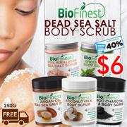 ★Essential Oil Dead Sea Salt Scrub 250g ★Made in USA★ Arabica Coffee/ Argan Oil/ Coconut