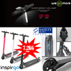Inspirgo Singapore Carbon Fibre Lightest Scooter (Electronic Scooter)**NO Hidden Cost****Authentic Safety Mark Adapter**
