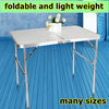 PORTABLE FOLDABLE ALUMINIUM TABLE LIGHTWEIGHT HEAVYDUTY SUITABLE FOR OUTDOOR OR INDOOR BUFFET /EVENT