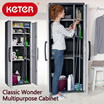 [Keter-Wondershelf] Classic Wonder Multipurpose Cabinet (68x38x176 cm)