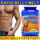 Buy 2 Free 1* Rapid Belly Melt - Forskolin Slimming Pills Weight Loss/ Made in USA Fat Burner trim your belly 10% and 20%