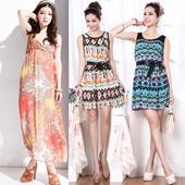 WOMEN CASUAL DRESS WITH ICE SILK COTTON MATERIAL - MINI DRESS / LONG DRESS - BAJU WANITA - DRESS WANITA