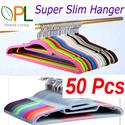 Big Sales ! 50 Pcs Magic Velvet Clothes Hanger  Non-Slip Clothes Hanger Home Power S Type Hanger !