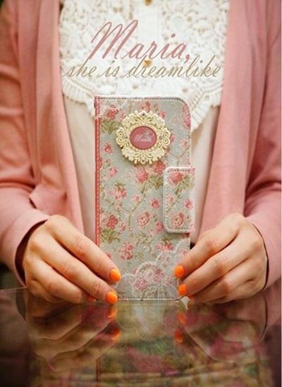 【iPhone/Galaxy/Galaxy NOTE ケース】Mr.h Maria she is dreamlike Diary (マリア ダイアリー )オリジナル ハンドメイド【レビューを書いてネコポス送料無料】の画像