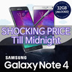 [Super Sale! Till Only Midnight!] [Exports Set] USED PHONE Samsung Galaxy Note4 N910 / N9015 / 32GB / Unlocked Smartphone Mobile phone / Smart Phone / FREE SHIPPING /  Samsung Note 4 / Note4 / KOREA