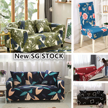 SG STOCK★Universal Spandex 4 Sizes Sofa Cover Cushion Pillow Cover /stool cover