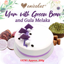 [Emicakes] $19.90 for First 300 Orders! Yam with Green Bean and Gula Melaka | Approx 500g