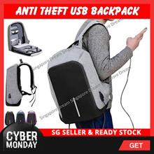 Anti Theft Laptop Backpack with USB Charging Port / Waterproof School Bag / Light Weight / Luminous