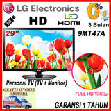LG Personal LED TV 29inch 29MT47A with Full HD ~ Time Machine ~ Speaker Stereo and DIVX HD  ~ Garansi 1 Tahun ~ ONLY FREE JABODETABEK