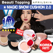 [APRILSKIN]★Magic Snow Cushion 2.0★April Skin Magic Snow Cushion SPF50+ PA+++ 15g / Magic Tattoo Gel
