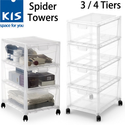 KIS Spider Towers Home Furniture Storage Multipurpose Drawers With Wheels  Home/Office Local Stocks