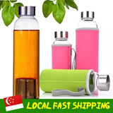 [Local Fast shipping]★Glass Water Bottle★ Healthy drinking Cup/ Glass Drinking Bottle/ BPA free / SingTea bottle/ Tea maker with infuser/ Sports Travel Fitness Bike / Easy Grip