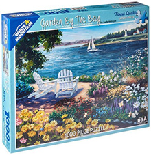 ◆Direct from USA◆ White Mountain Puzzles Garden By The Bay - 1000 Jigsaw Puzzle