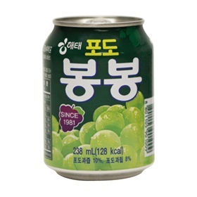 【韓国食品・韓国食材・韓国飲み物】やっぱり飲料も美味しい!■韓国のぶどうボンボン(缶238ml)■の画像