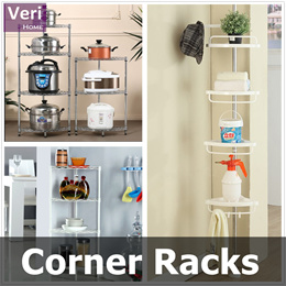 【Local Stock!】【Corner Rack/Shelf】【Utilize corner spaces!】 Quality choices! /Stylish design