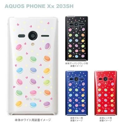 【AQUOS PHONEケース】【203SH】【Soft Bank】【カバー】【スマホケース】【クリアケース】【スイーツ】 09-203sh-sw0001の画像