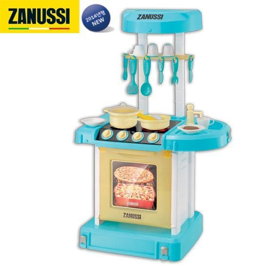 qoo10 - zanussi pack away toy kitchen set/large double side