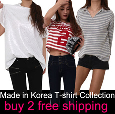 [★ BUY 2 FREE SHIPPING★]New Arrival ~♥Plus size loose fit T-shirt collection / Mickey Mouse T-Shirt / Made in Korea / T-shirts South Korea Top