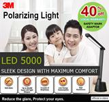 [Official E-Store] LED5000 LED Task Light - Black / White - Study Lamp / Anti-Flicker Light / Reading / Energy Saving / Exam /  Safety Mark