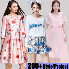 3/10 European and American high-end fashion dress high quality plus size/S-3XL