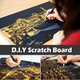 [D.I.Y Scratch Board]Scratch Night View/Anti-Stress Scratch Off Art TheraphyColouring Book/Coloring Book/Scratch Map/Paint By Numbers/Diy/Art and Craft/Home Decoration/Decal