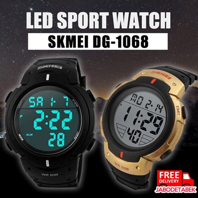 Jam Tangan Digital LED Pria Cowok Men Sport Watch SKMEI DG-1068 / Jam Tangan