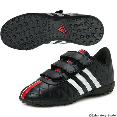 アディダス (adidas) ジュニア パティーク11クエストラ TF J ベルクロ(コアブラック×ランニングホワイト×ビビッドレッド) S31655 [分類:サッカー トレーニングシューズ]の画像