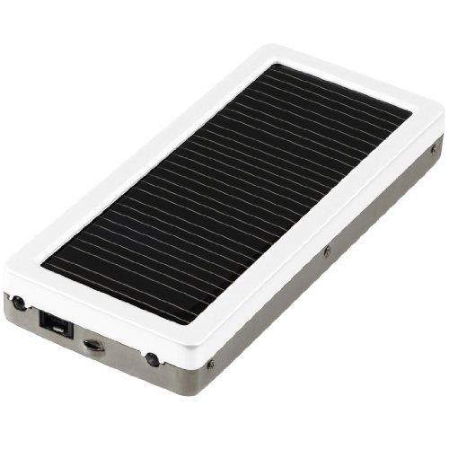 【クリックで詳細表示】GREEN HOUSE ソーラー充電器 携帯電話/iPod/ゲーム機用 1000mAh ホワイト GH-SC1000-8AW