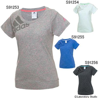 アディダス (adidas) レディース Seasonal Training スラブ 半袖Tシャツ KAZ27 [分類:Tシャツ (レディース)]の画像