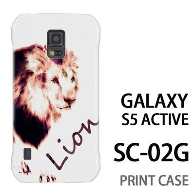 GALAXY S5 Active SC-02G 用『No3 Lion』特殊印刷ケース【 galaxy s5 active SC-02G sc02g SC02G galaxys5 ギャラクシー ギャラクシーs5 アクティブ docomo ケース プリント カバー スマホケース スマホカバー】の画像