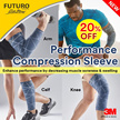[Official E Store] 3M™ Futuro™ Performance Compression Sleeve Knee/ Calf / Arm- Breathable / Comfort