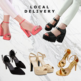 [Heels- Local Delivery]Sexy Ladies Shoes/Event heels/Wedding shoes/Platform series /super high/Quality Heels/Local Delivery/Office Lady Shoe