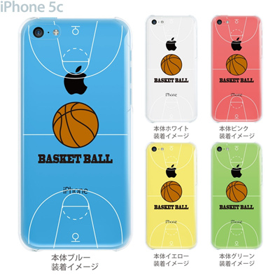 【iPhone5c】【iPhone5c ケース】【iPhone5c カバー】【ケース】【カバー】【スマホケース】【クリアケース】【クリアーアーツ】【バスケットボール】 10-ip5c-ca0059の画像
