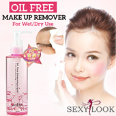 [Sexylook] Oil Free Makeup Remover 無油零負擔乾濕兩用卸妝露♥Oil-Free♥2-in-1 Remover♥Wet or Dry♥Suitable for All Skin♥Fashion Guide Taiwan Award♥Highly Raved Product♥With over 98% Satisfaction♥