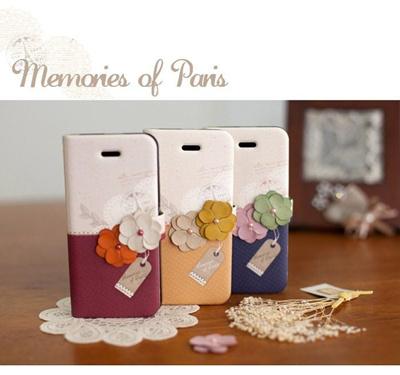 GALAXY S3 SC-06D/SC-03E対応 ケースカバー/ギャラクシーS3 docomo Samsung ギャラクシーS3ケース /Happymori Memorise of Paris Diary(メモライズオブパリス ダイアリー)の画像