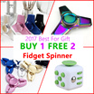 Buy 1 Free 2 ★#Main 1 - Fidget Spinner ★ Anti-Stress Relief Reduce Anxiety Cube Toys