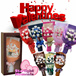 Bear Bouquets with Gift Box / Soft Toys Bouquet / Graduation Bouquet / Flower Bouquet / Valentines Day Present [NG]