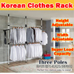 2017 NEW ★Local Seller★Korean Standing Pole/ Clothes Hanger Rack/Drying Hanger/Single Rod/ Double Po