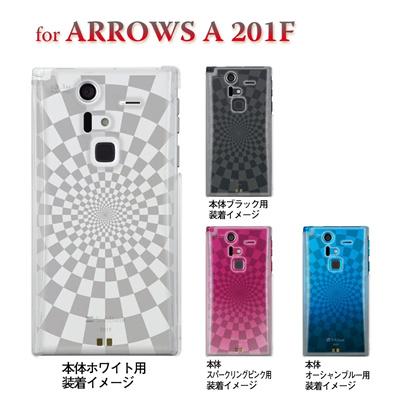 【ARROWS A 201F】【201F】【Soft Bank】【カバー】【スマホケース】【クリアケース】【チェック・ボーダー・ドット】【スクエア】 08-201f-ca0083の画像
