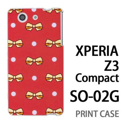 XPERIA Z3 Compact SO-02G 用『1103 リボンドット マゼンダ』特殊印刷ケース【 xperia z3 compact so-02g so02g SO02G xperiaz3 エクスペリア エクスペリアz3 コンパクト docomo ケース プリント カバー スマホケース スマホカバー】の画像
