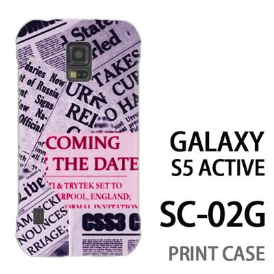 GALAXY S5 Active SC-02G 用『No3 news paper』特殊印刷ケース【 galaxy s5 active SC-02G sc02g SC02G galaxys5 ギャラクシー ギャラクシーs5 アクティブ docomo ケース プリント カバー スマホケース スマホカバー】の画像