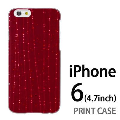 iPhone6 (4.7インチ) 用『1210 ライン 赤』特殊印刷ケース【 iphone6 iphone アイフォン アイフォン6 au docomo softbank Apple ケース プリント カバー スマホケース スマホカバー 】の画像