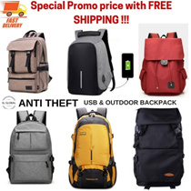 [SG SELLER FREE SHIPPING] Anti theft Unisex USB Korea Japan design  backpack and school bags/backpac