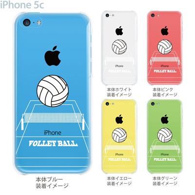【iPhone5c】【iPhone5c ケース】【iPhone5c カバー】【ケース】【カバー】【スマホケース】【クリアケース】【クリアーアーツ】【バレーボール】 10-ip5c-ca0060の画像
