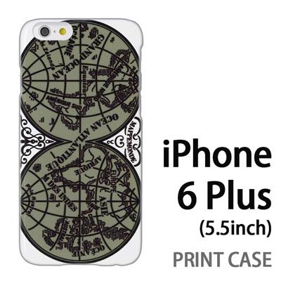 iPhone6 Plus (5.5インチ) 用『0707 世界マップ 緑』特殊印刷ケース【 iphone6 plus iphone アイフォン アイフォン6 プラス au docomo softbank Apple ケース プリント カバー スマホケース スマホカバー 】の画像